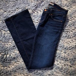 EUC J Brand Low Rise Flare Jeans size 27